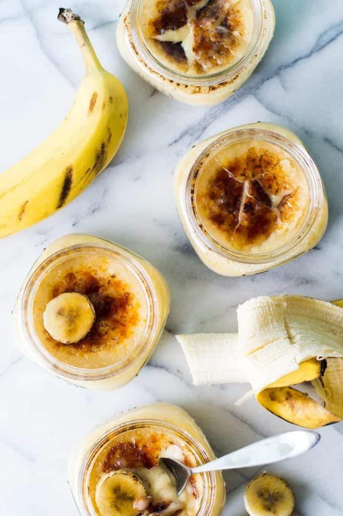 Banana Pudding Creme Brûlée. This banana pudding custard is topped with a crunchy brûlée topping. Easier to make than it sounds! This dessert is sure to impress!