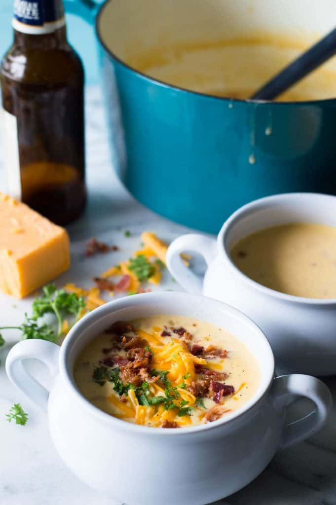 This creamy, comforting beer cheese soup can be done and ready to eat in 30 minutes!