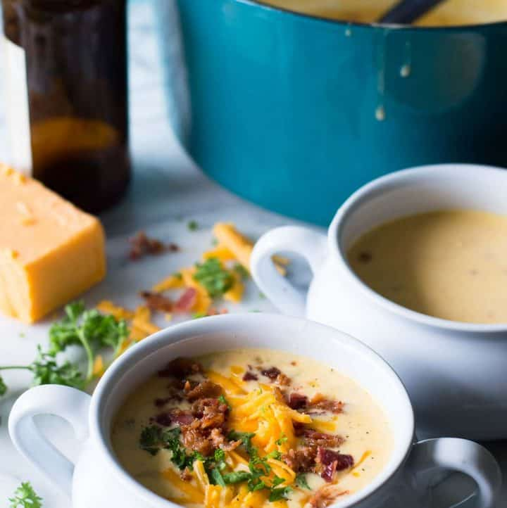 30 Minute Beer Cheese Soup