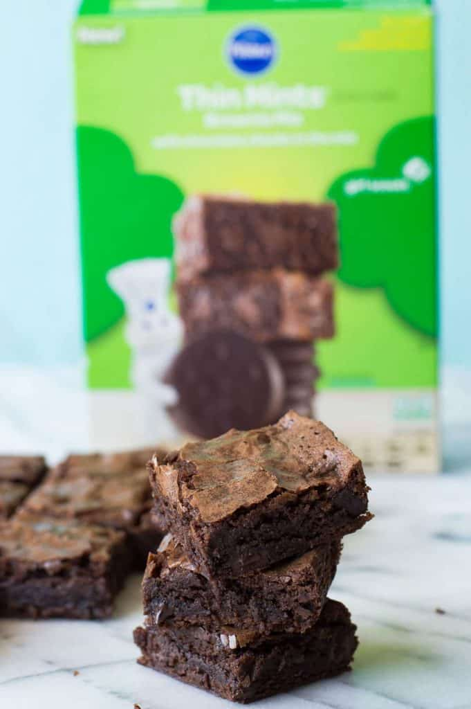 Thin Mint Brownies {+Milkshake}