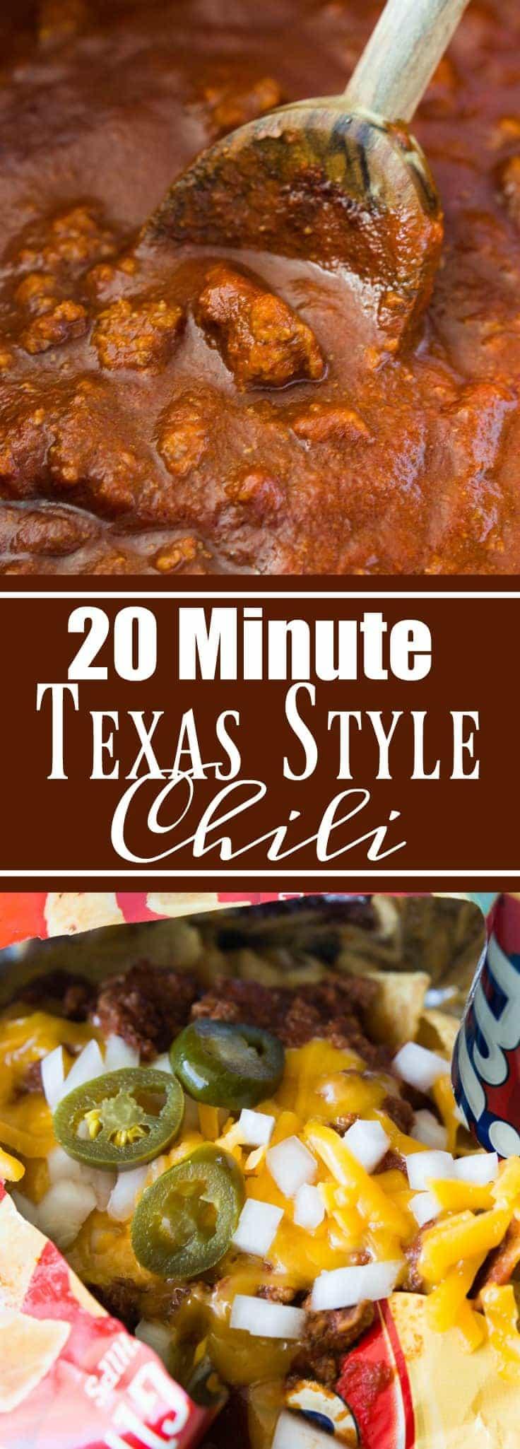 20 Minute Texas Style Chili {+Frito Pie}