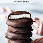 Stack of peppermint patties.