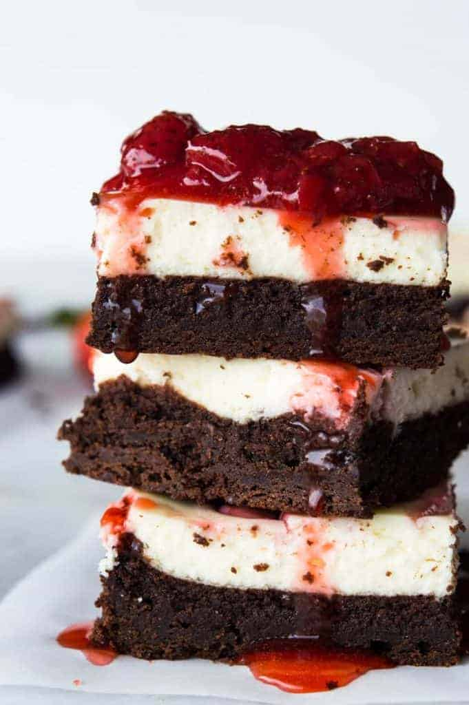 Strawberry Cheesecake Brownies. These homemade brownies are loaded up ...
