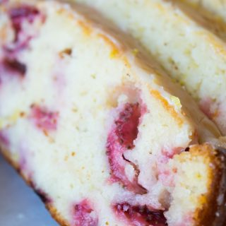 Glazed Strawberry Lemon Loaf