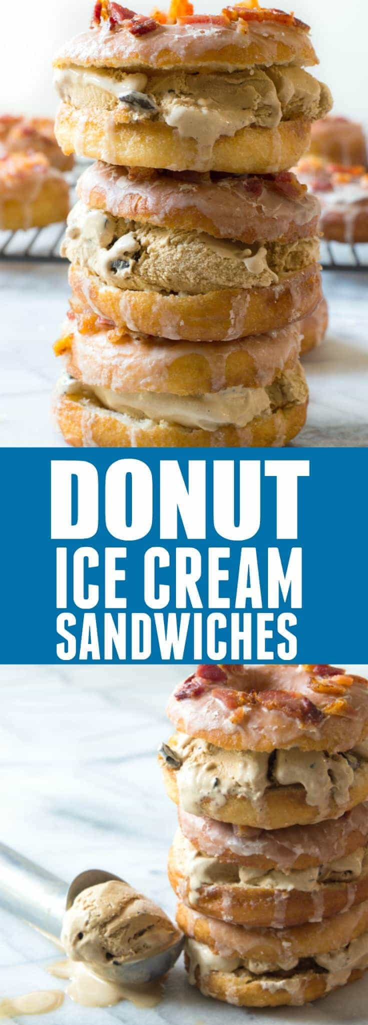 Donut ice cream sandwiches house of yumm find me on pinterest for more great recipes ccuart Gallery