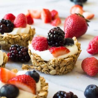 Fruit and Yogurt Granola Cups (and Recipe Video!)