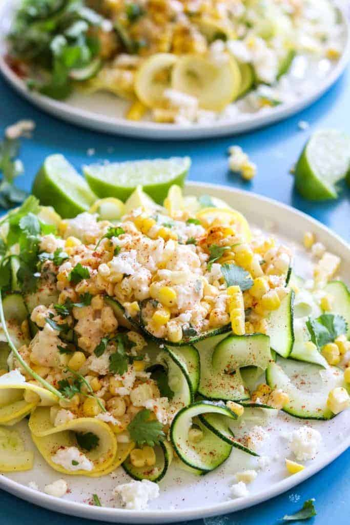 Mexican Street Corn Zucchini Pasta - House of Yumm