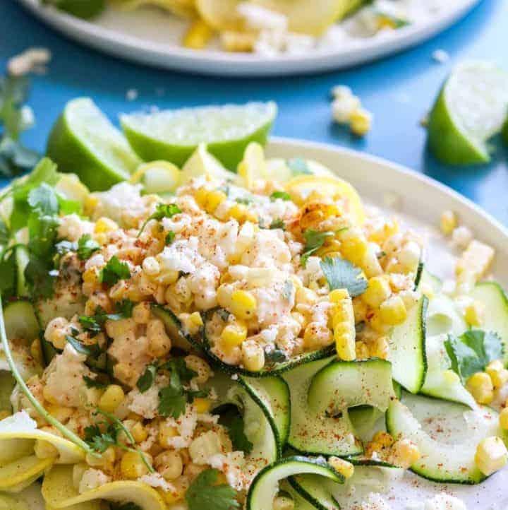 Mexican Street Corn Zucchini Pasta