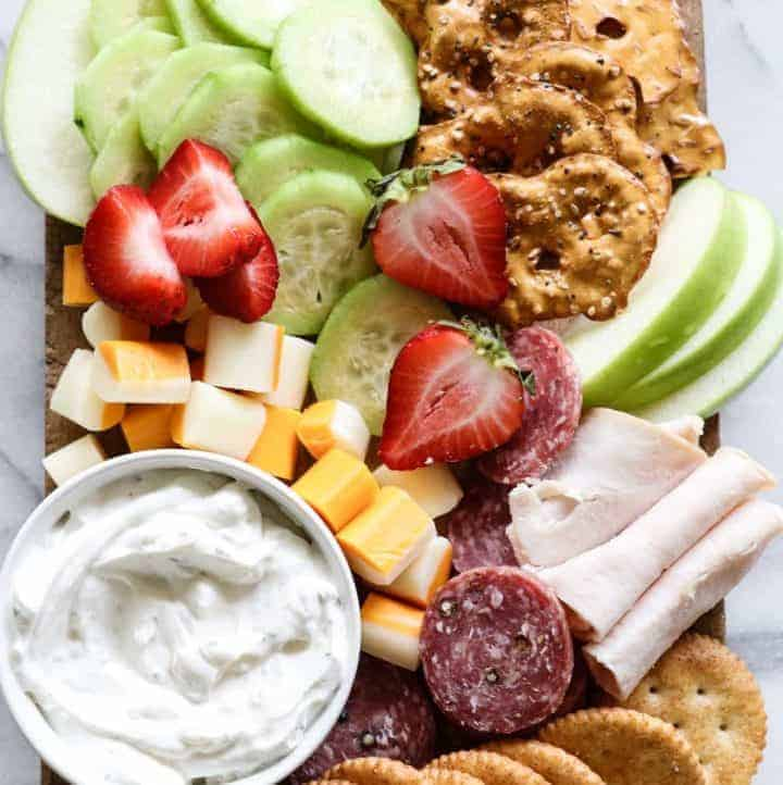 Kid Friendly Cheese Board