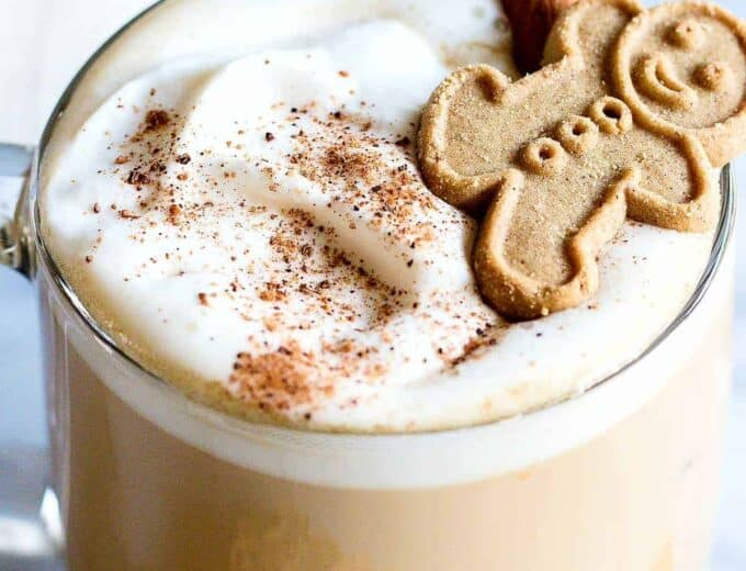 Eggnog Latte! Celebrate Christmas with this Eggnog latte made right at home. A super simple coffee drink that uses real eggnog instead of creamer.