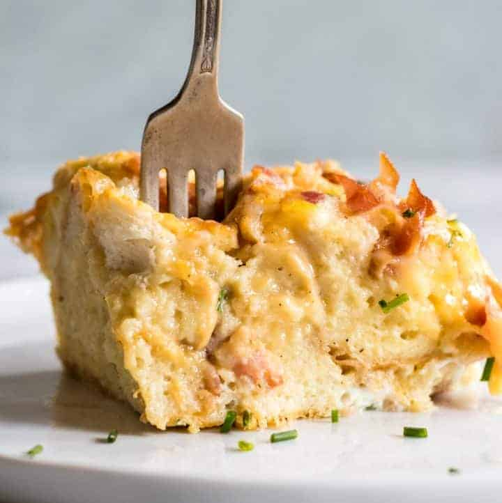 Overnight Bacon and Cheese Strata