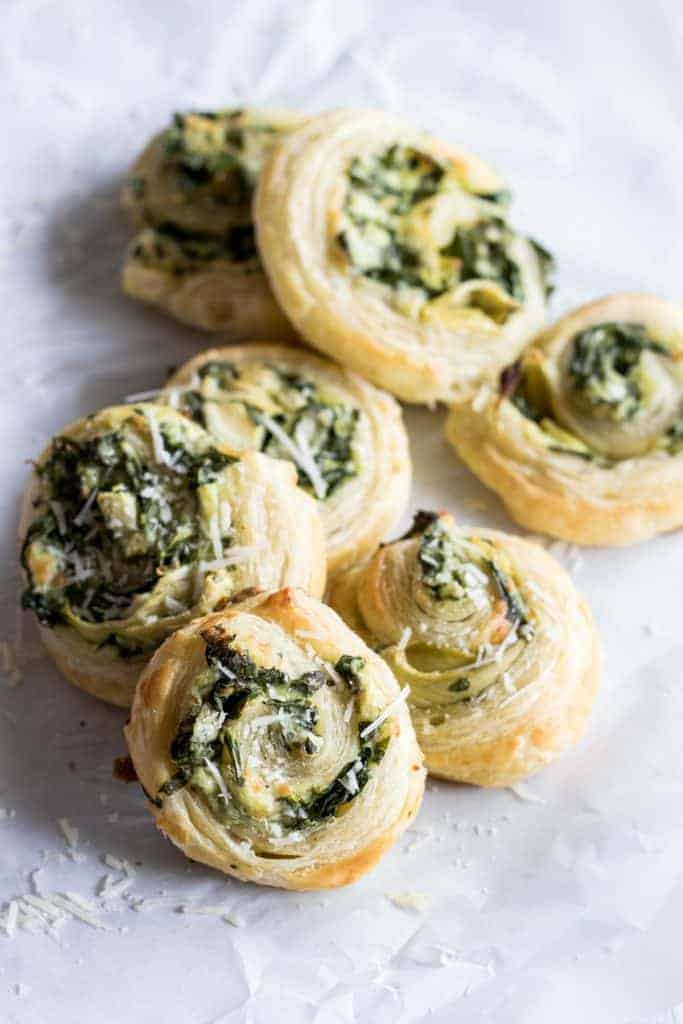 Puff Pastry Spinach And Artichoke Pinwheels House Of Yumm