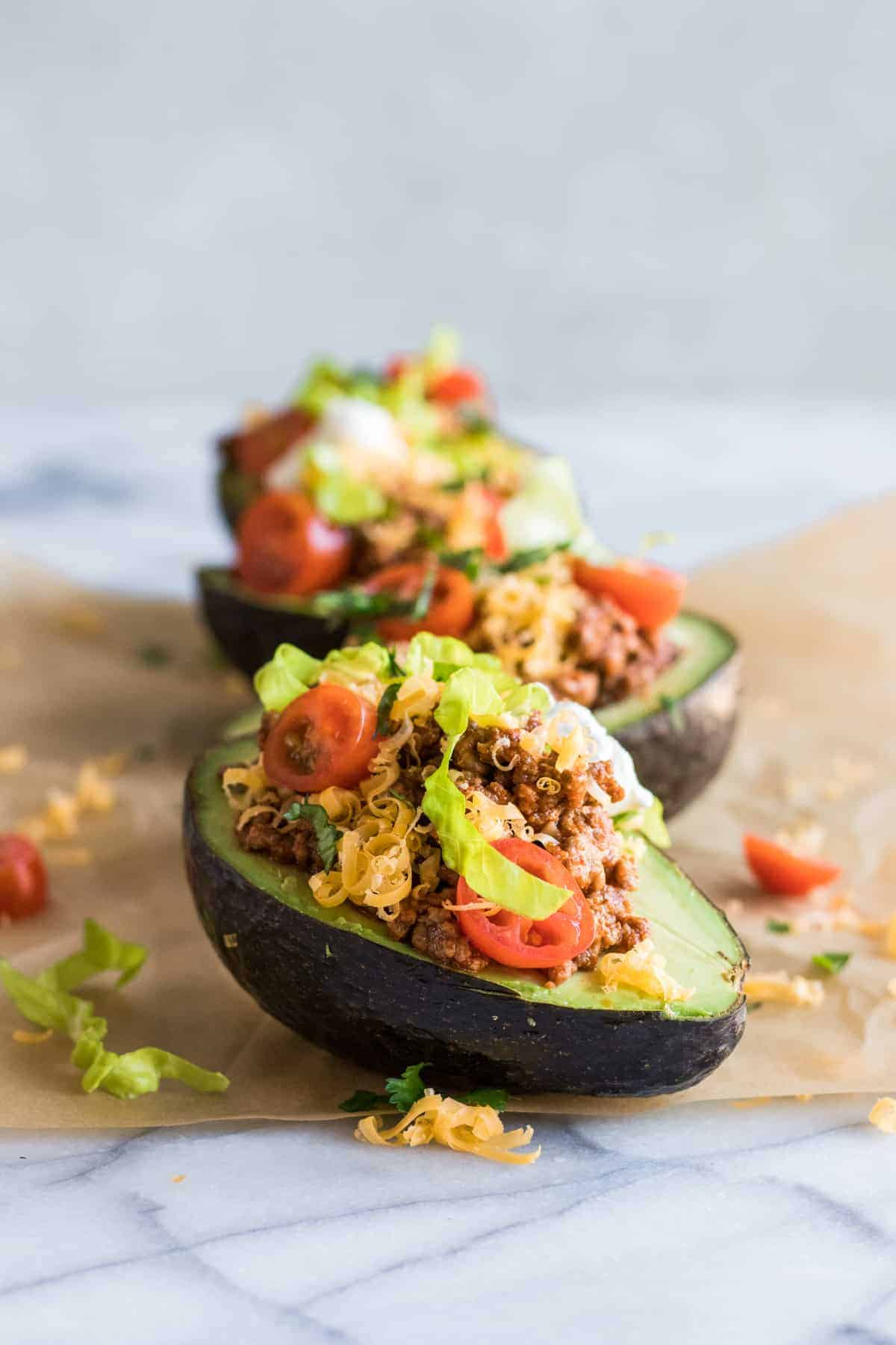 Taco Stuffed Avocados House Of Yumm