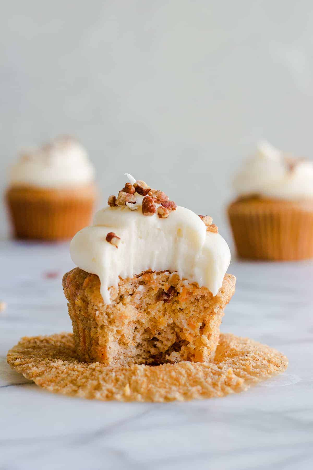 Carrot Cake Cupcakes - House of Yumm 30c9d5984f045
