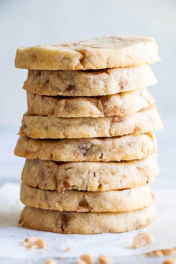 Butter Pecan Shortbread Cookies House Of Yumm