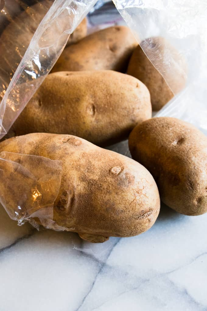 Russet potatoes are the best potato for making twice baked potatoes.