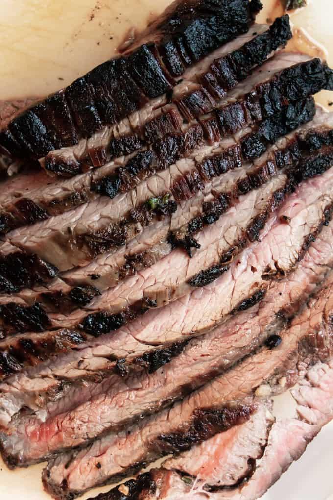 Sliced skirt steak for Tex Mex street tacos.
