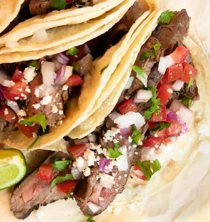 Homemade Tex Mex Street Tacos.