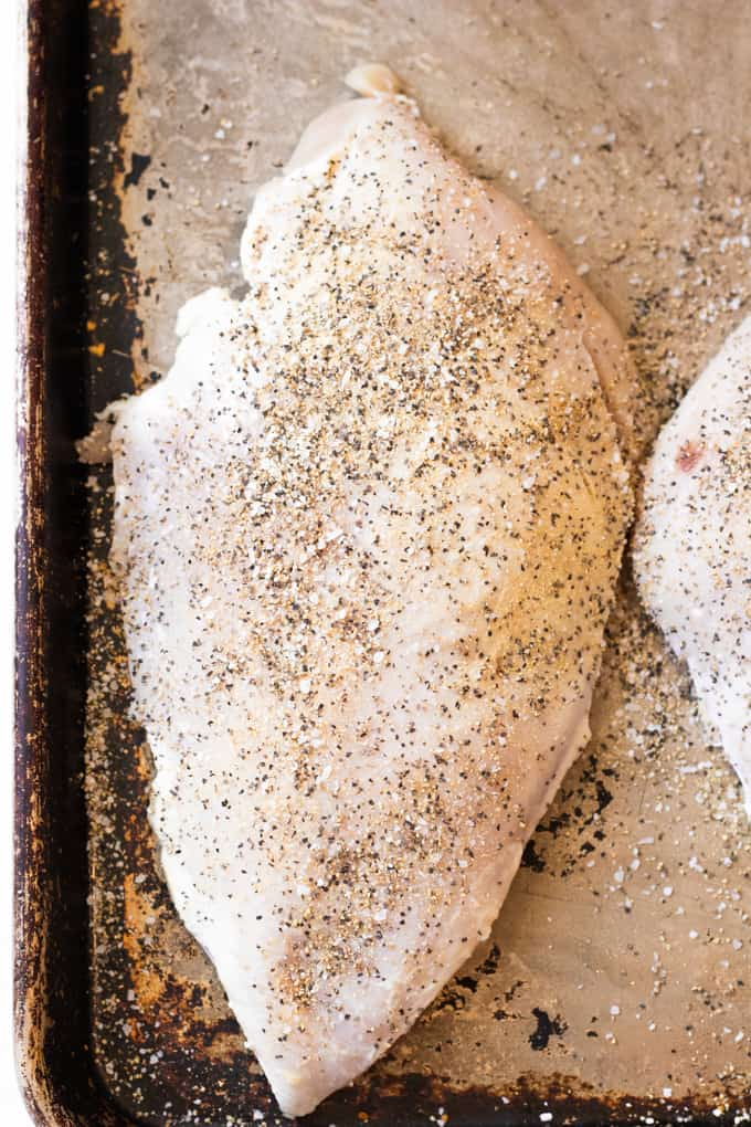 Turkey breasts that are rubbed down with a dry rub.