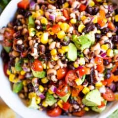 Bowl filled with Texas Caviar.