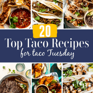Taco round up image showing top taco recipe images.